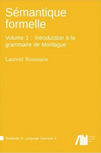 Image of Semantique formelle : introduction a la grammaire de montague